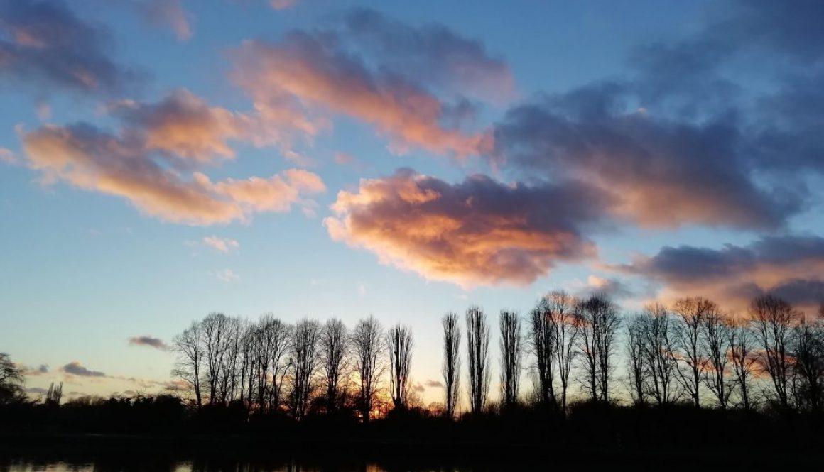 Zachód słońca na Tamizą