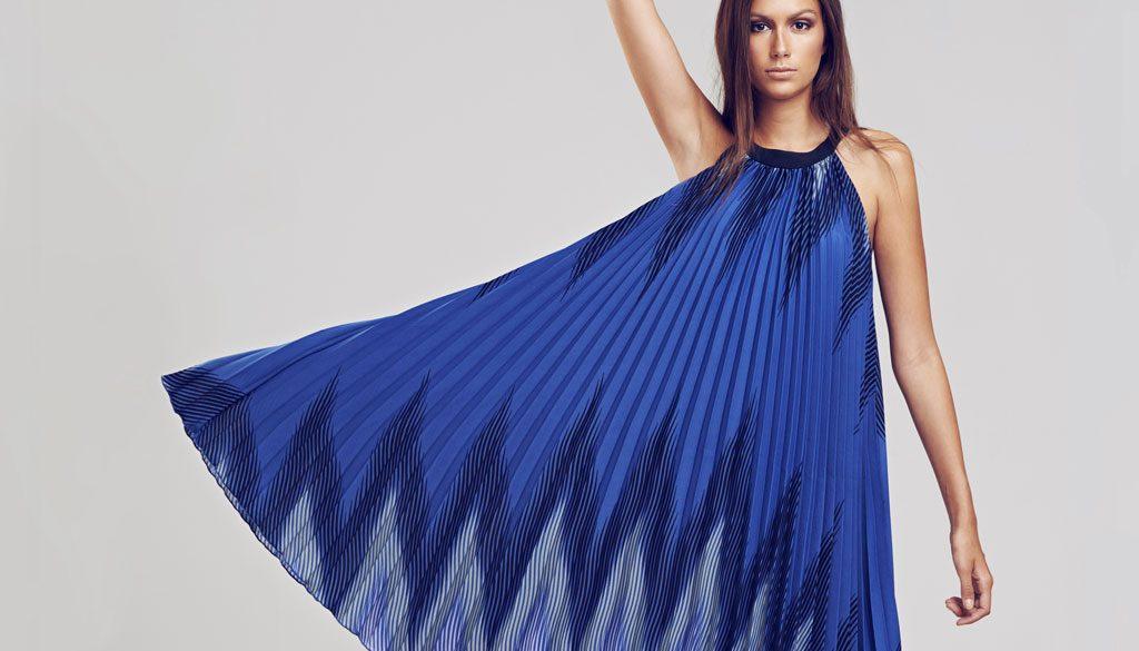 On Blue Dress